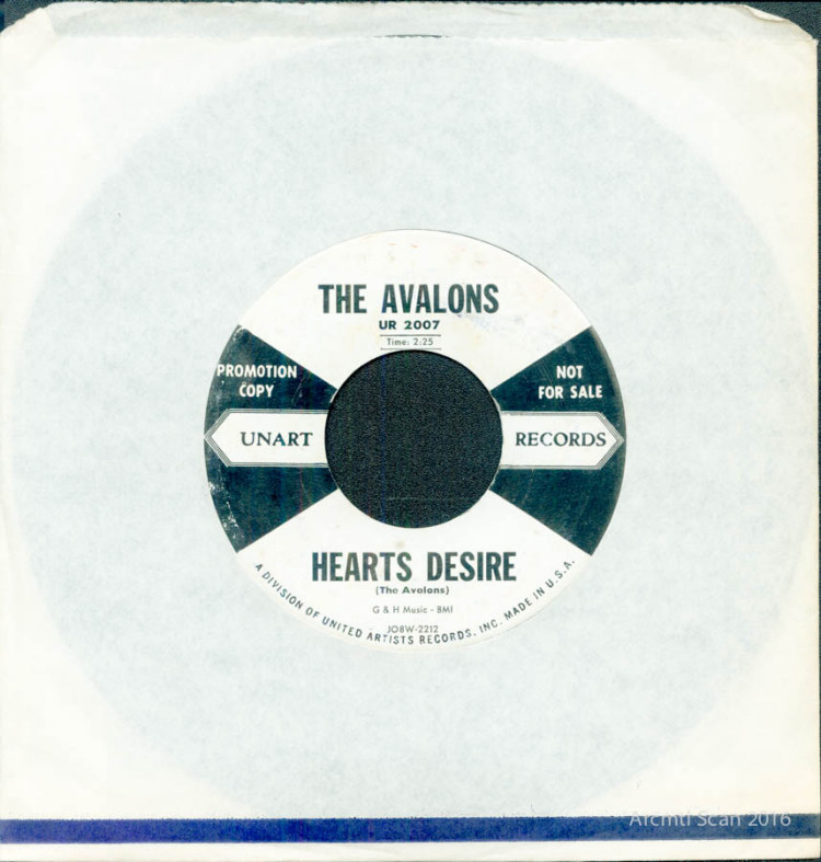 The Avalons, Hearts Desire