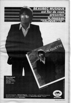 Gilles Valiquette, Impact Mtl Vol. 1 No. 6 1980